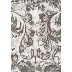 Meticulously Woven Grey Vintage Rican Abstract Rug (7'10 x 10')