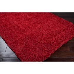 Woven Red Charina Plush Shag (8' x 10')