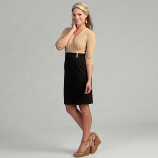 Calvin Klein Women's Camel/ Black Empire Dress