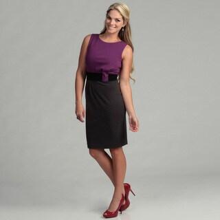 Calvin Klein Women's Mulberry/ Charcoal Dress