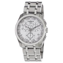 Tissot Men's 'Couturier' White Dial Stainless Steel Watch