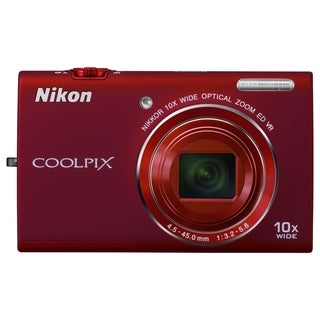 Nikon Coolpix S6200 16 Megapixel Compact Camera - Red