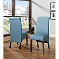 Sleigh Back Blue Parsons Chair (Set of 2)