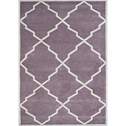 Alliyah Handmade Lilac New Zealand Wool Rug (8x10)