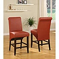 Sleigh Back Burnt Orange Counter Stool (Set of 2)