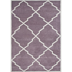 Alliyah Handmade Lilac New Zealand Blend Wool Rug (5' x 8')