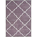Alliyah Handmade Lilac New Zealand Wool Rug (5' x 8')