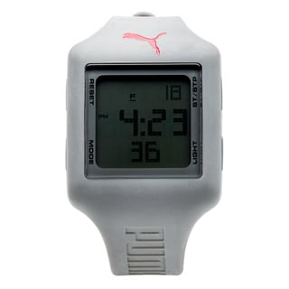 Puma Unisex Slide Strap Grey Digital Watch
