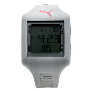 Puma Unisex PU910791008 Slide Strap Grey Digital Watch