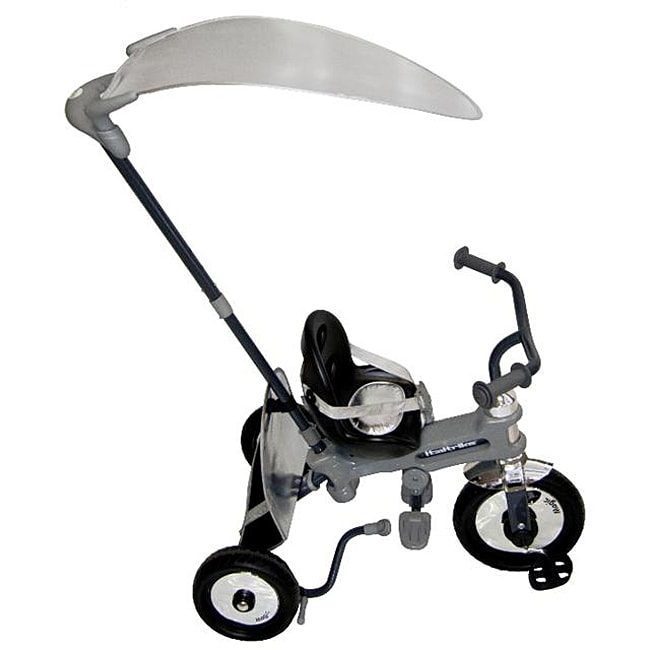 Italtrike Silver Azzurro Tricycle/Stroller with Detachable Umbrella