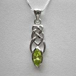 Sterling Silver Cubic Zirconia Celtic Necklace (Thailand)
