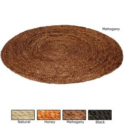 Asian Woven Maize Area Rug (2'10 round)