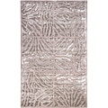 Candice Olson Hand-tufted Beige Zebra Animal Print Lourve Wool Rug (2' x 3')
