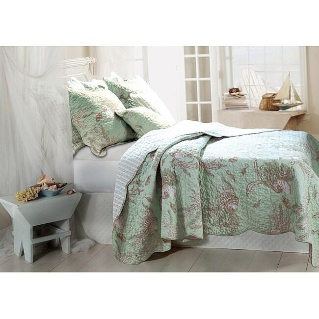 Greenland Home Fashions Bora Bora 3-piece Quilt Sham and Pillow Set