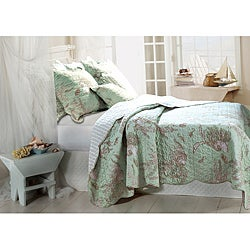 Bora Bora 3-piece Quilt Sham and Pillow Set