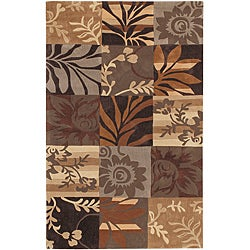 Hand-tufted Brown Mockingbird Rug (2' x 3')