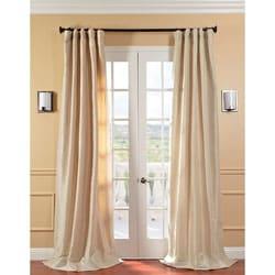 EFF Solid Faux Silk Taffeta Antique Beige Curtain Panel