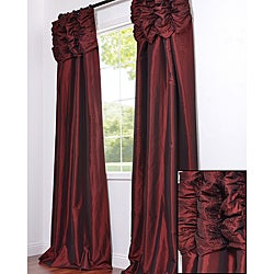 Ruched Header Syrah Faux Silk Taffeta 120-inch Curtain Panel