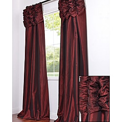 Ruched Header Syrah Faux Silk Taffeta 108-inch Curtain Panel