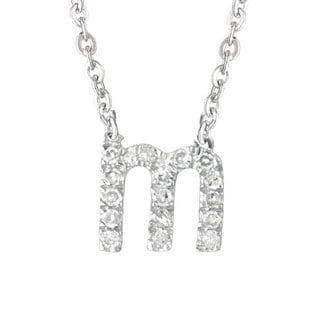 Sterling Silver Diamond Accent Letter Initial Necklace