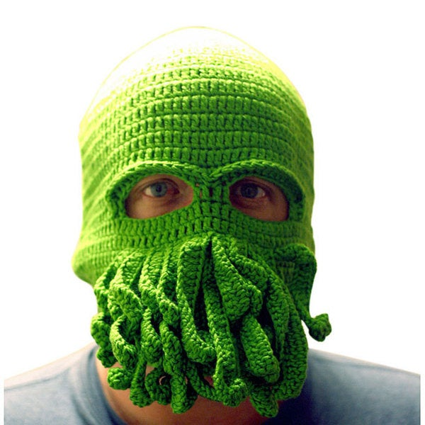 Knitnut By JL Green Cthulhu Ski Mask