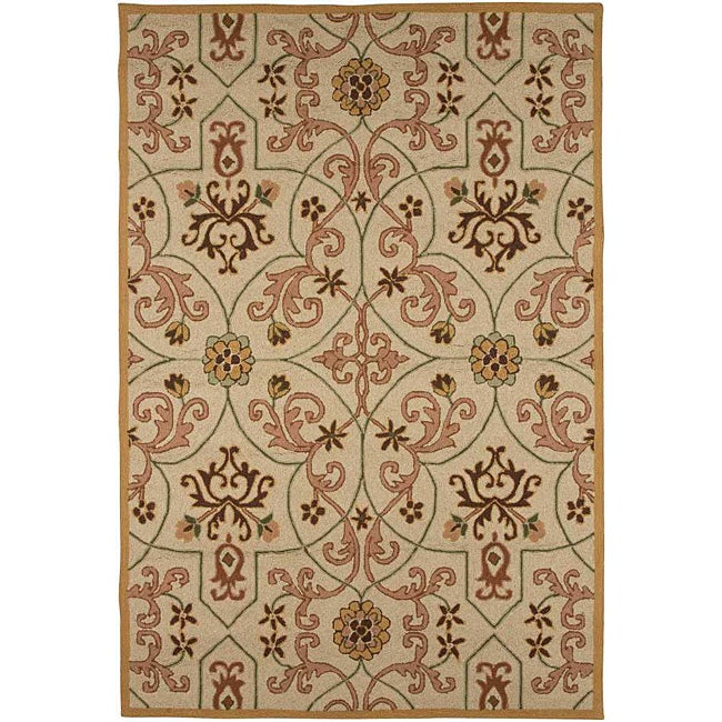 Hand Hooked Area Rug (2' x 3')
