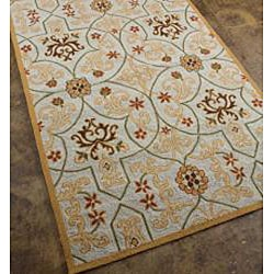 Hand Hooked Area Rug (3'6 x 5'6)