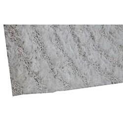 Hand-woven White Shag Rug (8' x 10')