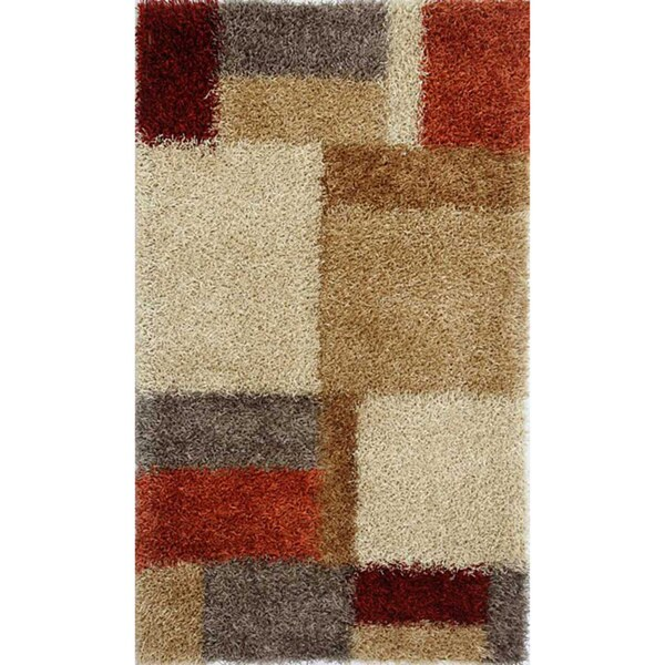 Hand-woven Brown Shag Rug (2' x 3')