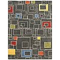 Hand-tufted Grey Wool Rug (2' x 3')