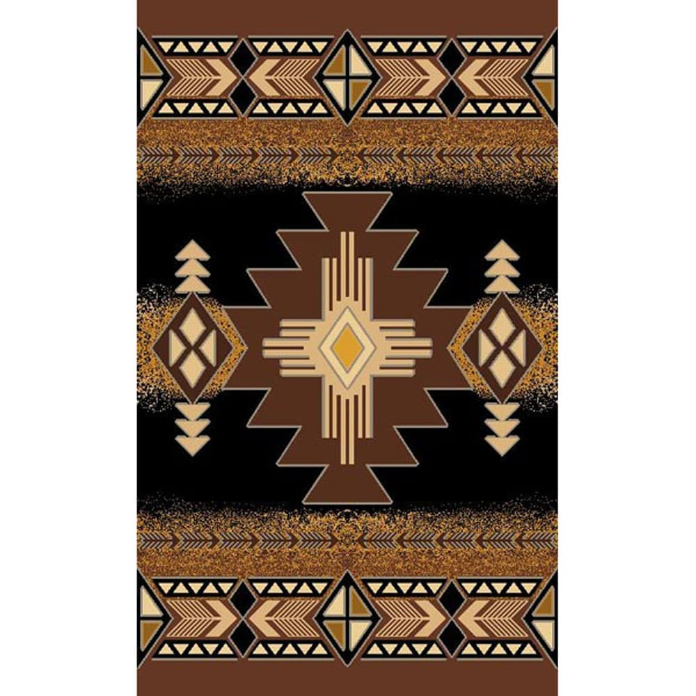 Concord Design Southwestern Tribal Black Area Rug (5' x 7') at Sears.com