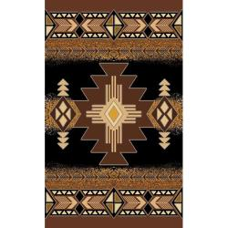 Concord Design Southwestern Tribal Black Area Rug (5' x 7')