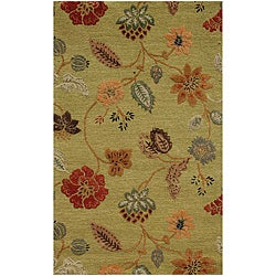 Hand Tufted Wool & Art Silk Rug (9'6 x13'6)