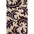 Hand-Tufted Wool & Art Silk Area Rug (5' x 8')