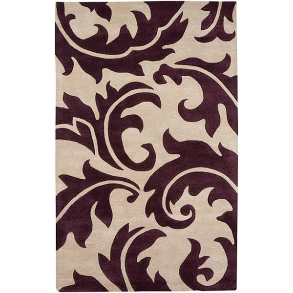 Hand Tufted Wool & Art Silk Area Rug (8' x 11')