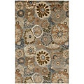 Hand-tufted Wool and Art Silk Rug (2' x 3')