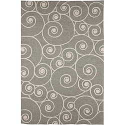 Hand-hooked Contemporary Area Rug (5' x 7' 6)