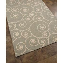 Hand-hooked Grey Abstract Area Rug (7'6 x 9'6)