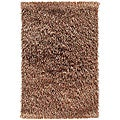 Hand-woven Polyester Brown Area Rug (5' x 8')