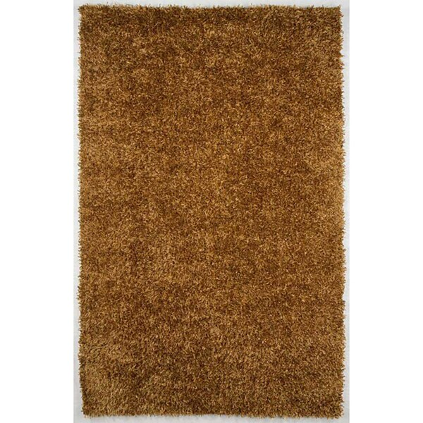 Flux-woven Gold Shag Area Rug (7'6 x 9'6)