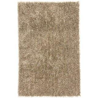 Flux-woven Sand Shag Rug (5' x 7'6)