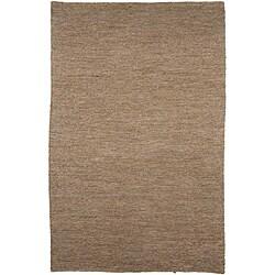 Hand-woven Hemp Grey Area Rug (8' x 10')