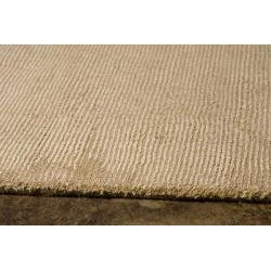 Hand-Woven Beige Wool and Art Silk Area Rug (8' x 10')