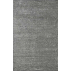 Hand-Woven Grey Wool and Art Silk Area Rug (8' x 10')