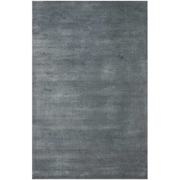 Hand-Woven Graphite Wool and Art Silk Area Rug (8' X 10')