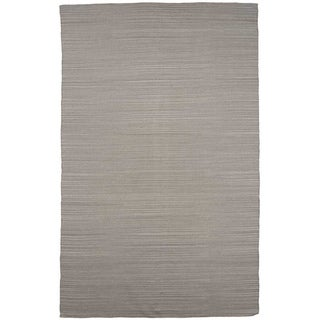 Flat Weave Solid Ashwood Wool Rug (4' x 6')