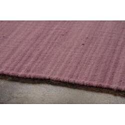 Flat Weave Pink Wool Rug (8' x 10')