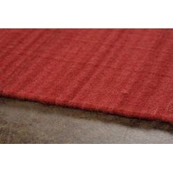 Flat-weave Red Wool Rug (4' x 6')
