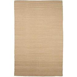 Flat Weave Cream Wool Rug (5' x 8')