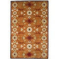 Hand-tufted Orange Wool Rug (5' x 8')